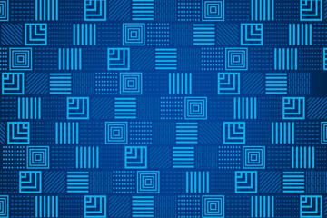 蓝色花纹方格背景矢量素材
