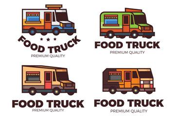 4款彩色快餐车标志设计乐虎国际线上娱乐乐虎国际