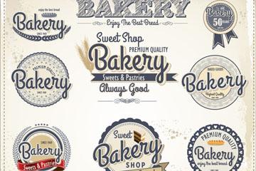11款复古烘培标签设计矢量素材