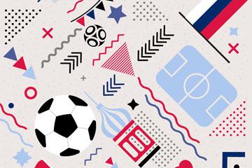 抽象足球元素无缝背景乐虎国际线上娱乐乐虎国际