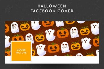 创意万圣节脸书封面图片矢量素材
