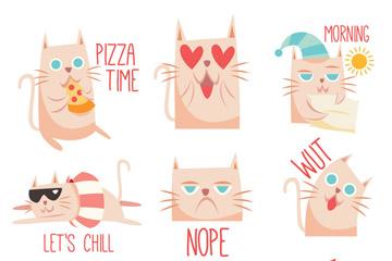 9款可爱猫咪设计矢量素材