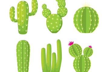 6款绿色仙人掌设计矢量素材
