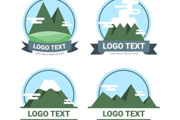 4款绿色山脉标志设计乐虎国际线上娱乐乐虎国际