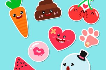 8款可爱水果和幽灵贴纸开户送体验彩金的网站