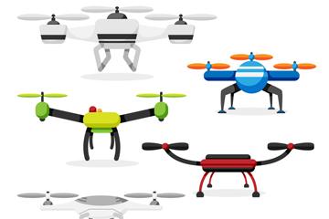 6款时尚无人驾驶飞机设计矢量图