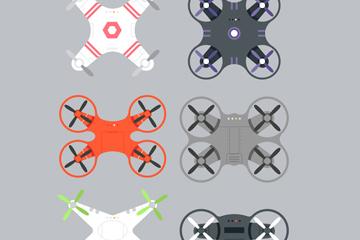 6款创意无人机俯视图矢量素材