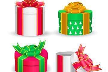 4款彩色立体礼物矢量素材