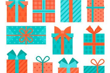 11款彩色节日礼品矢量素材