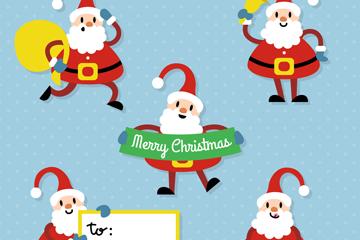 5款可爱质感圣诞老人矢量素材