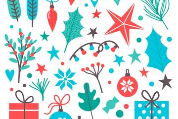 31款彩色圣诞节元素矢量素材