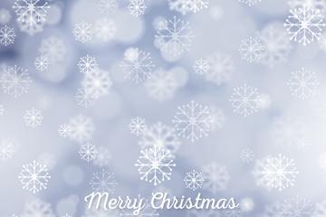 白色圣诞雪花背景矢量素材
