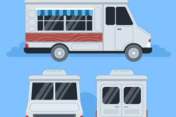 白色快餐车正侧背面开户送体验彩金的网站