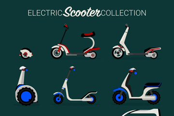 9款创意电动车设计矢量素材