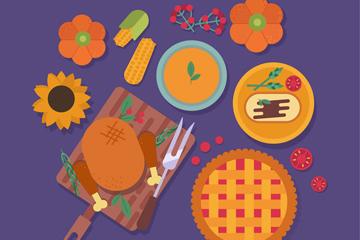 美味感恩节食物俯视图乐虎国际线上娱乐乐虎国际
