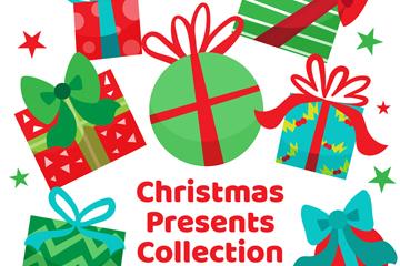 7个创意圣诞节礼物矢量素材