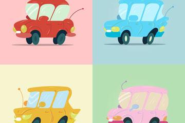 4款创意轿车设计矢量素材