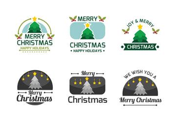 9款清新圣诞节标签矢量素材
