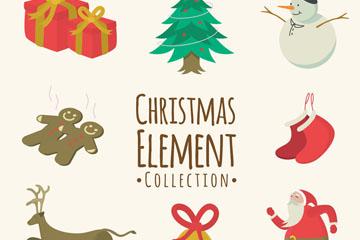 8款创意圣诞节元素设计矢量素材