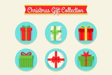 9款创意圣诞节礼盒矢量素材