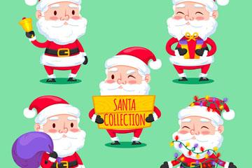 5款可爱圣诞老人设计矢量素材
