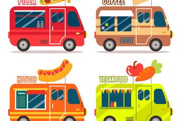 4款创意餐车设计矢量素材