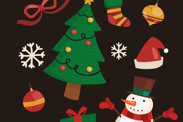 11款彩色圣诞节元素矢量图