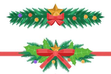 3款彩色圣诞节装饰物矢量图