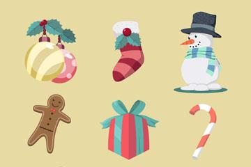 9款创意圣诞节物品设计矢量素材