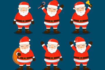 6款创意圣诞老人设计矢量图
