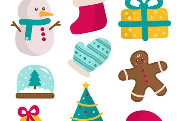 9款创意圣诞节装饰物矢量素材