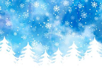 白色圣诞节雪中的森林开户送体验彩金的网站