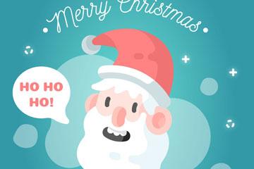 卡通圣诞老人头像矢量素材
