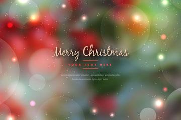 创意圣诞节模糊光晕矢量素材