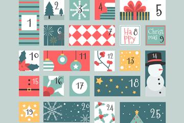 创意圣诞月月历矢量素材