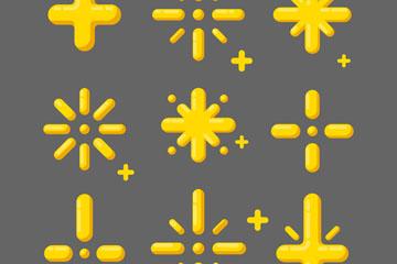 6款抽象星星设计矢量素材