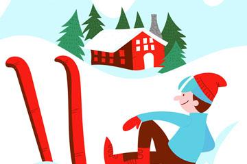 创意歇息中的滑雪男子乐虎国际线上娱乐乐虎国际