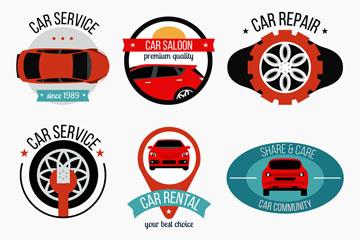 6款时尚车元素标志矢量素材