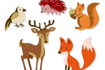 5款美丽森林动物矢量素材