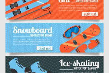 3款创意冬季运动banner乐虎国际线上娱乐乐虎国际