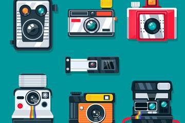 7款精美照相机设计矢量素材