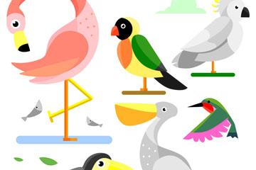 6款创意鸟类设计矢量素材