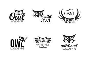 8款黑色猫头鹰标志乐虎国际线上娱乐乐虎国际