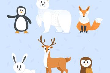 6款可爱野生动物设计矢量素材