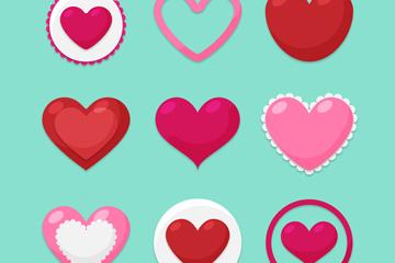 9款创意情人节爱心设计矢量素材