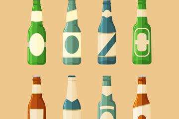 8款创意啤酒瓶设计矢量素材