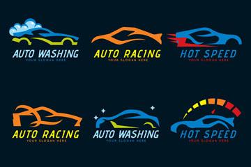 9款抽象车辆标志矢量素材