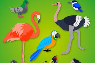 9款精美鸟类设计矢量素材