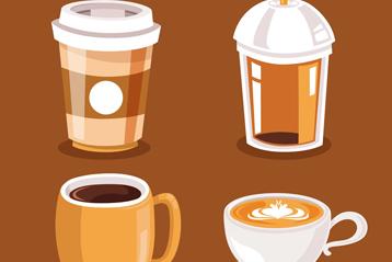 4款创意咖啡设计矢量素材