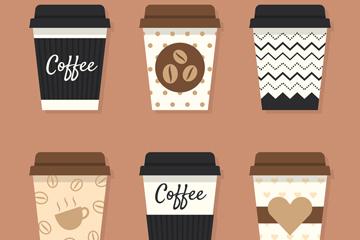 6款创意外卖咖啡矢量素材